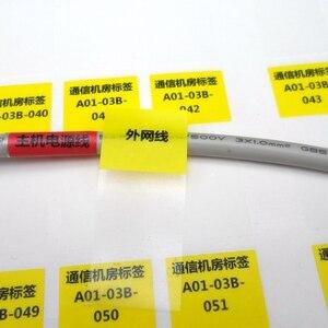 Image 4 - 270 Stuks 58X25Mm Hand Winding Netwerk Kabel Etiket Sticker, Waterdicht Duurzaam Voor Ooit Gebruik, item No. HT05