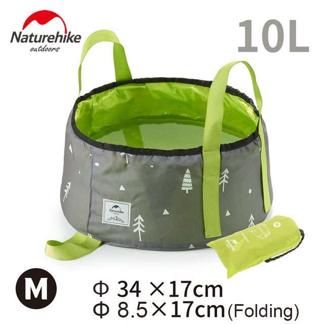 Naturehike Folding Washbasin 10L faltbarer Wasserbehälter Waschbecken green