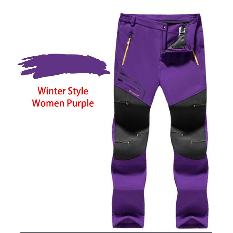 LUTU Winter Fleece pantalones de senderismo hombres Otoño Softshell - Ropa deportiva y accesorios - foto 5