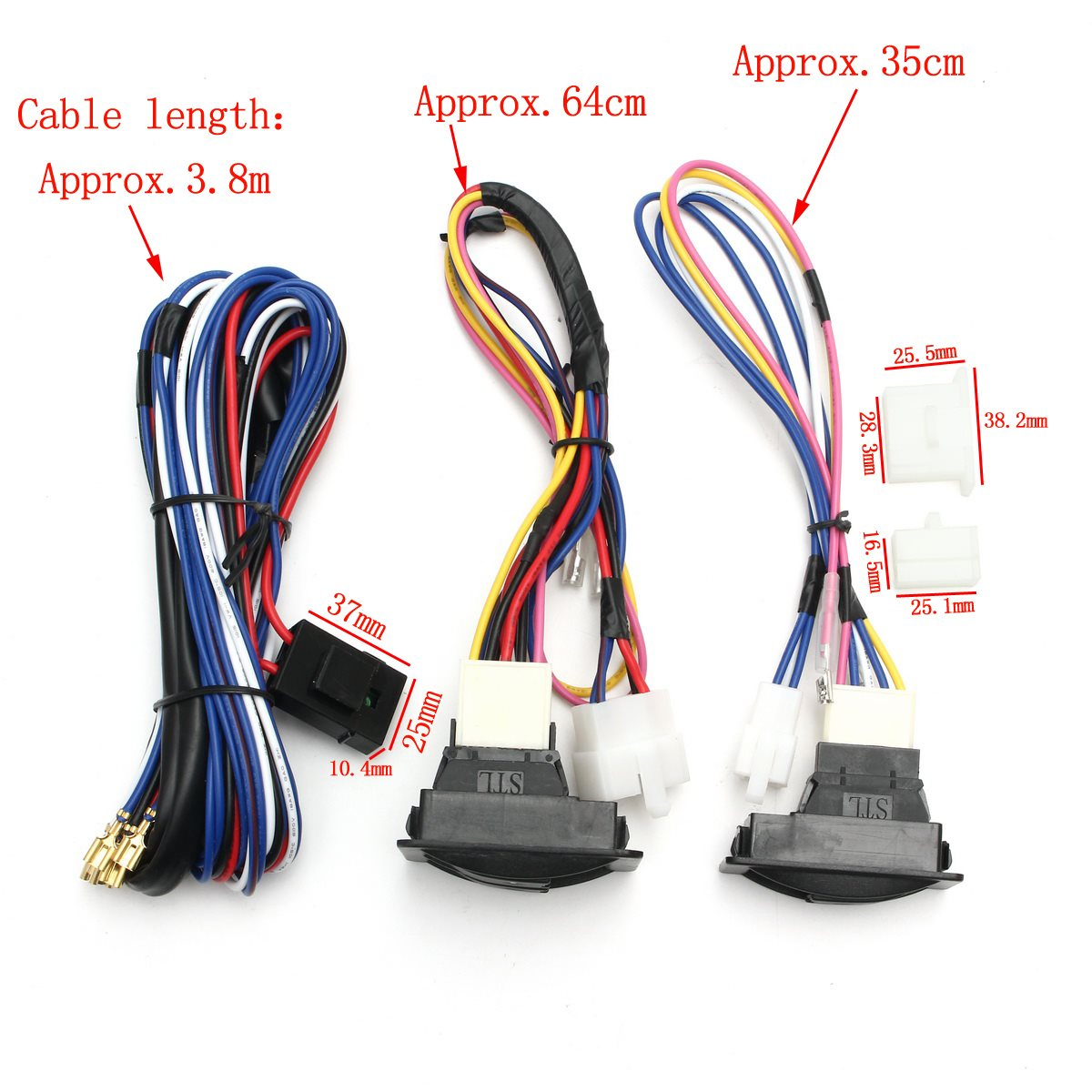 universal 12v power window glass lock rocker lift switch wiring harness kits for chevrolet ford hyundai nissan toyota vw in car switches relays from  [ 1200 x 1200 Pixel ]
