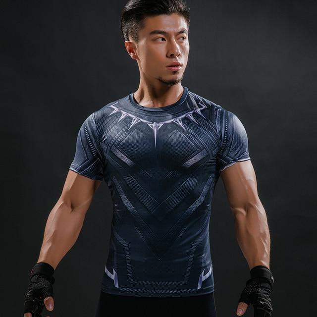 0fb53c7577e Black Panther T Shirt Captain America Civil War Tee 3D Printed T-shirts Men  Marvel Avengers iron man Fitness Male Crossfit Tops