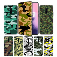 Camouflage Pattern Camo military ArSoft Black Silicone Case Cover for OnePlus 6 6T 7 Pro 5G Ultra-thin TPU Phone Back Protective