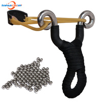1 Pc Powerful Stainless Steel Slingshot Hunting Catapult Bow 100pcs 5 16 8mm Diameter Carbon Steel
