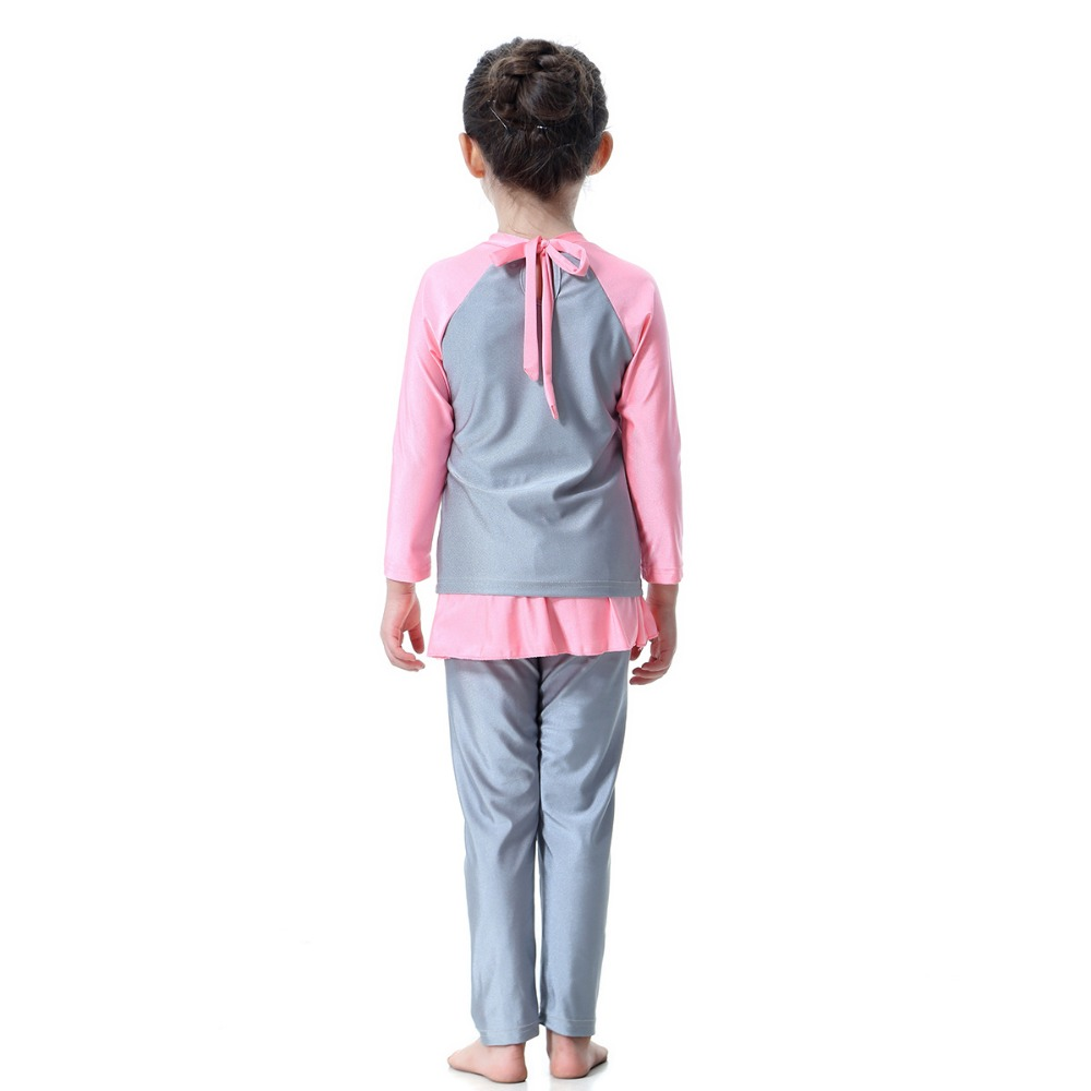 a08b2d25ab 3pcs/set girl swimming suit for girls back knot swimwear +pants+hat Sports  Suits For Girl children clothes set beach wear-in Clothing Sets from Mother  ...