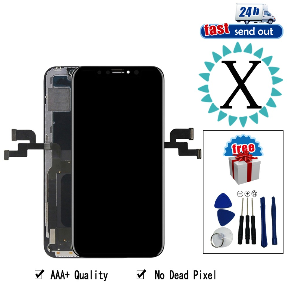 LCD For Iphone X  LCD Display Touch Screen AAA+ Quality Tested No Dead Pixel Digitizer Assembly For iphone X displayLCD For Iphone X  LCD Display Touch Screen AAA+ Quality Tested No Dead Pixel Digitizer Assembly For iphone X display