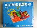 Elenco de pressão de circuitos de kit, Assembed de aprendizagem brinquedos educativos para crianças 58 projetos