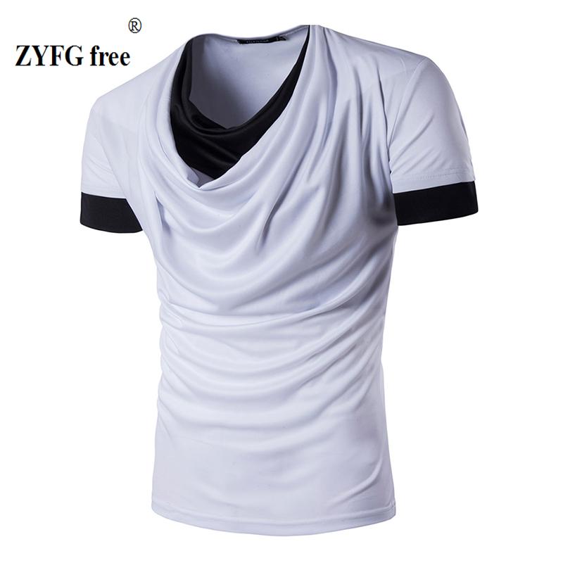 casual nuevo estilo urbano de moda de manga corta camiseta delgada seccin empalme color