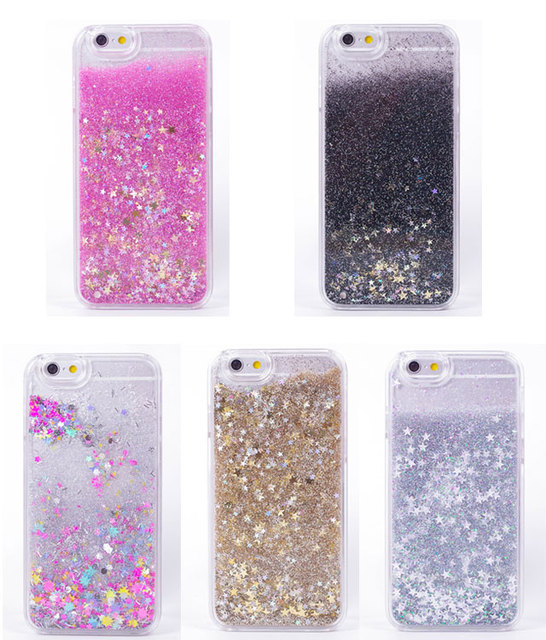 release date: 06042 92a30 US $3.89 |Luxury Twinkle Glitter Stars Flowing Water Liquid Case For iPhone  6 6s 4.7