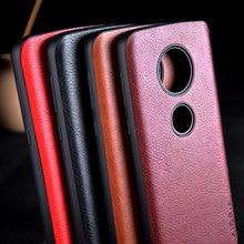 Case for Motorola Moto G7 G6 G5S Plus funda luxury Leather Vintage litchi pattern capa cover for moto g7 g6 g5s plus case coque