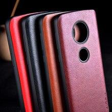 Funda para Motorola Moto G7 G6 G5S Plus funda de cuero de lujo Vintage litchi patrón capa para moto g7 g6 g5s plus funda coque