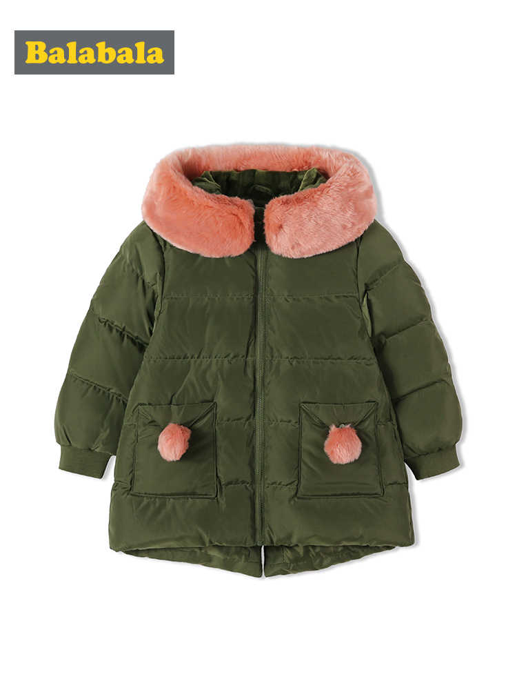 Balabala בגדי ילדים תינוק בני בנות למטה מעיל בנות חורף ילדי עבה חם מעיל סלעית ברווז למטה מעיל