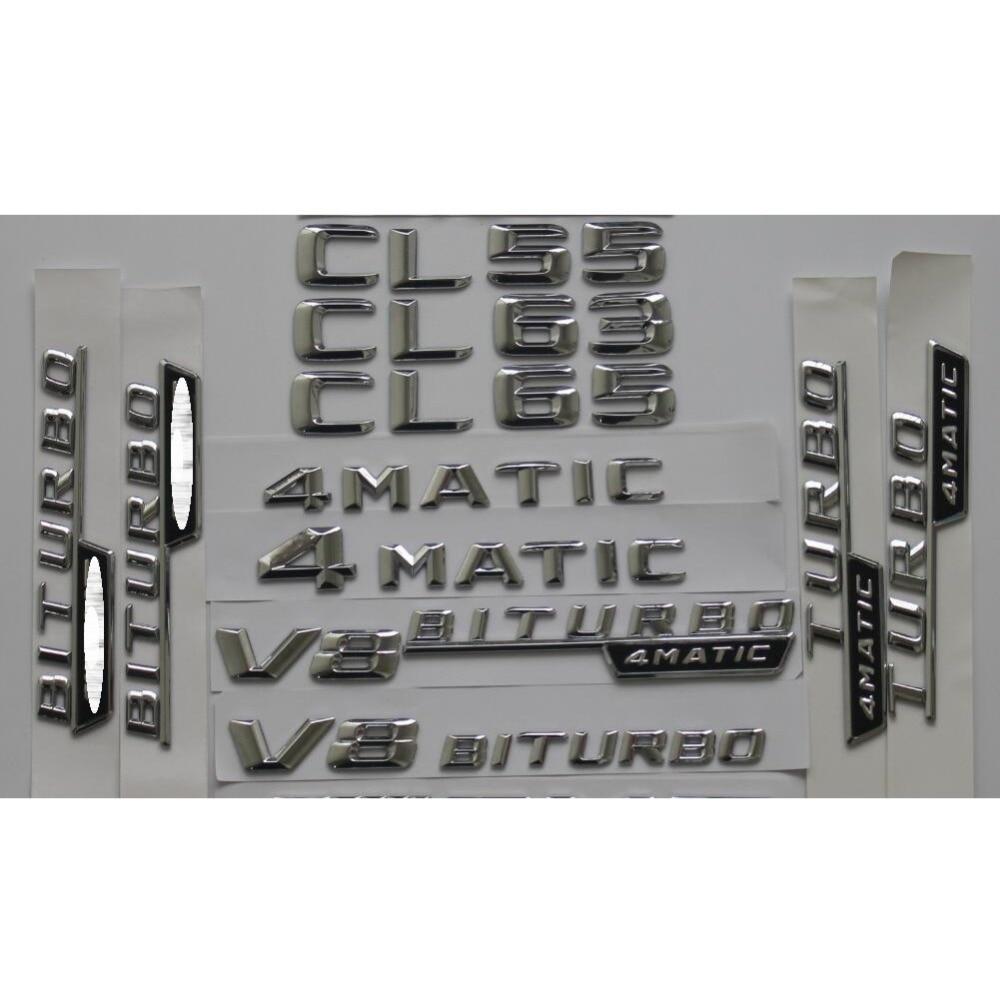 4MATIC Gloss Black C215 C216 Coupe CL55 CL63 CL65 AMG CL400 CL500 CL600 4MATIC Trunk Rear Star Emblems Badges Emblem