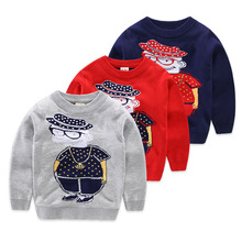 Kids Cotton Sweaters Knit Pullover Girls Boys Sweater Autumn Winter Casual Red Navy Blue Tops Size For 3 4 5 6 7 years old kids