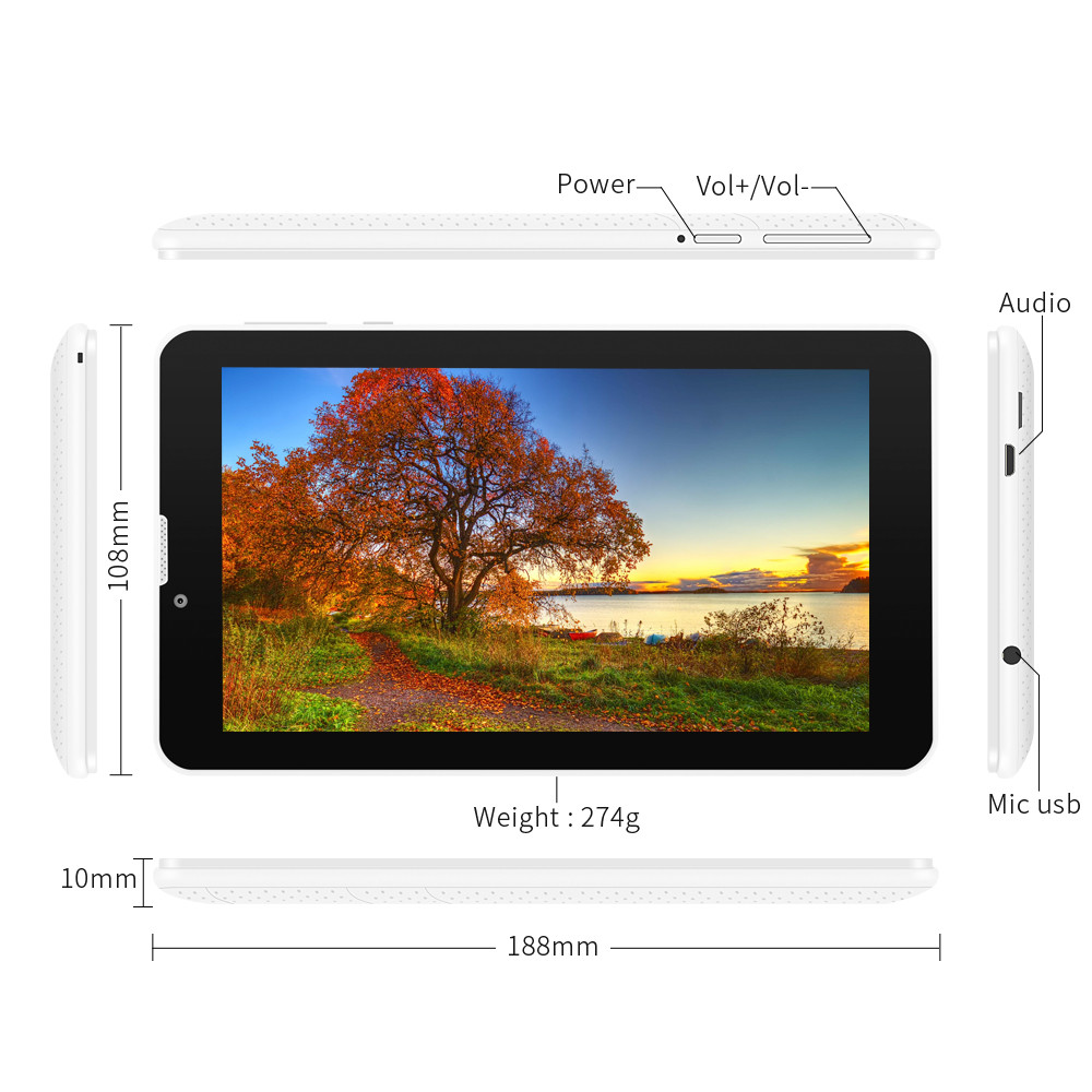 3g GPS tablette Phablet 10