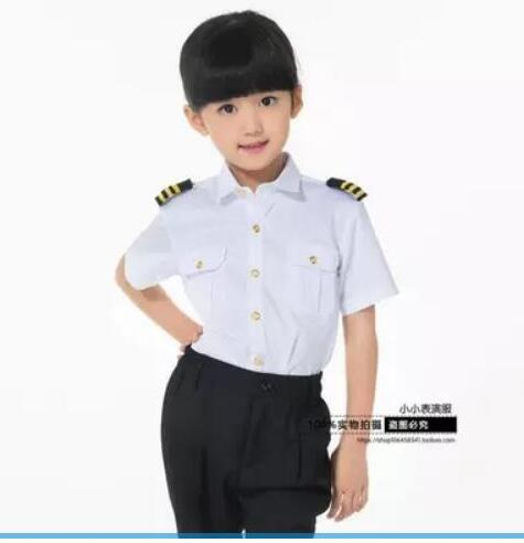 Hot Children Air Force Less Clothing Pilot Uniforms Boy Captain Performing Photography Service Performance clothing AMBESTPARTY