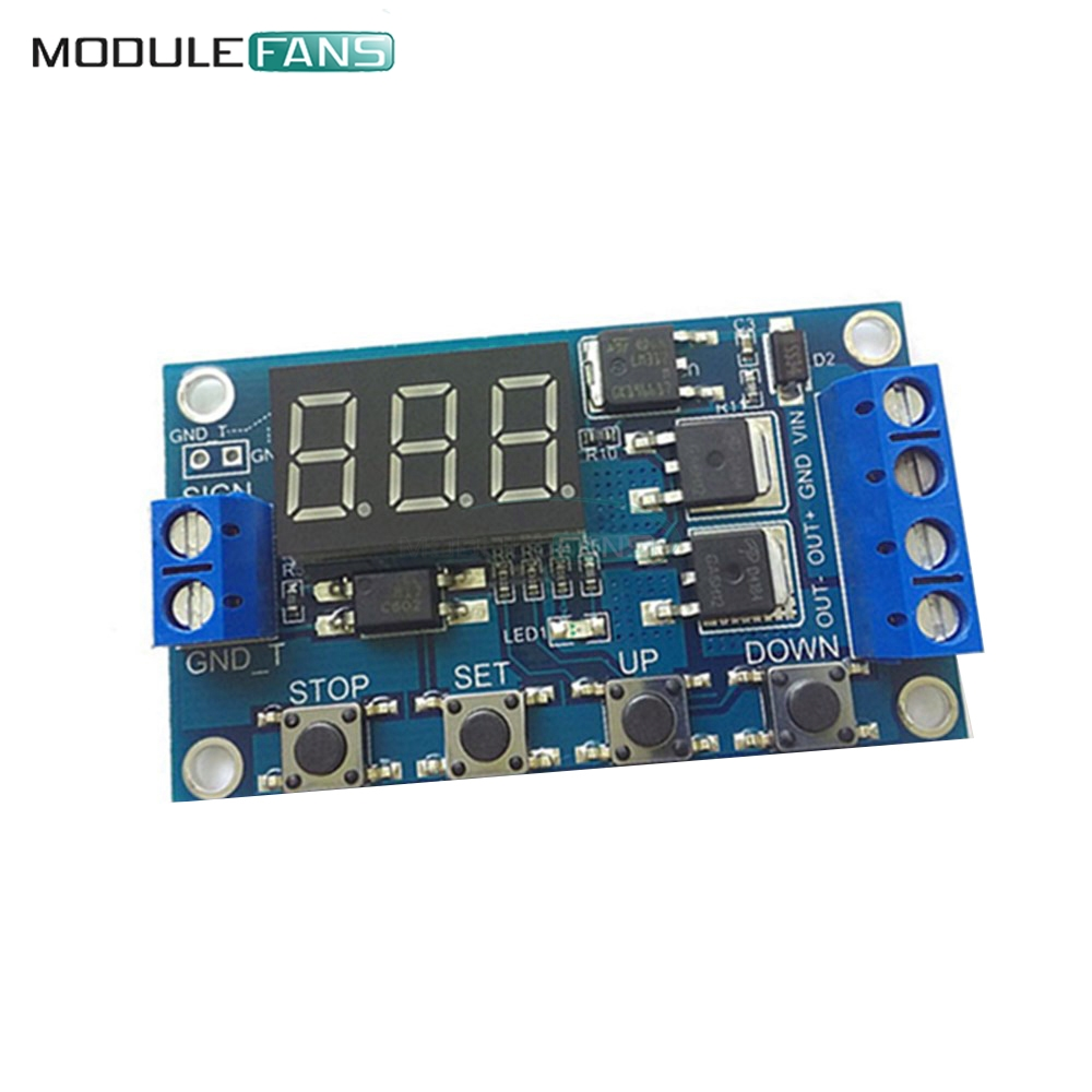 Time Delay Light Switch Circuit Electronics Area Dc 12v Programmable Timer Trigger Cycle Relay 24v Board Dual Mos Tube Module Micro Pump Controller