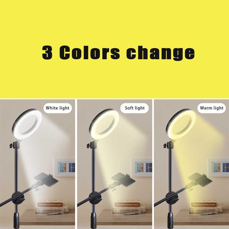 Tripé de luz ajustável do anel do bluetooth do braço do crescimento do tiro do telefone móvel da fotografia alto ângulo para o tiro da foto/vídeo