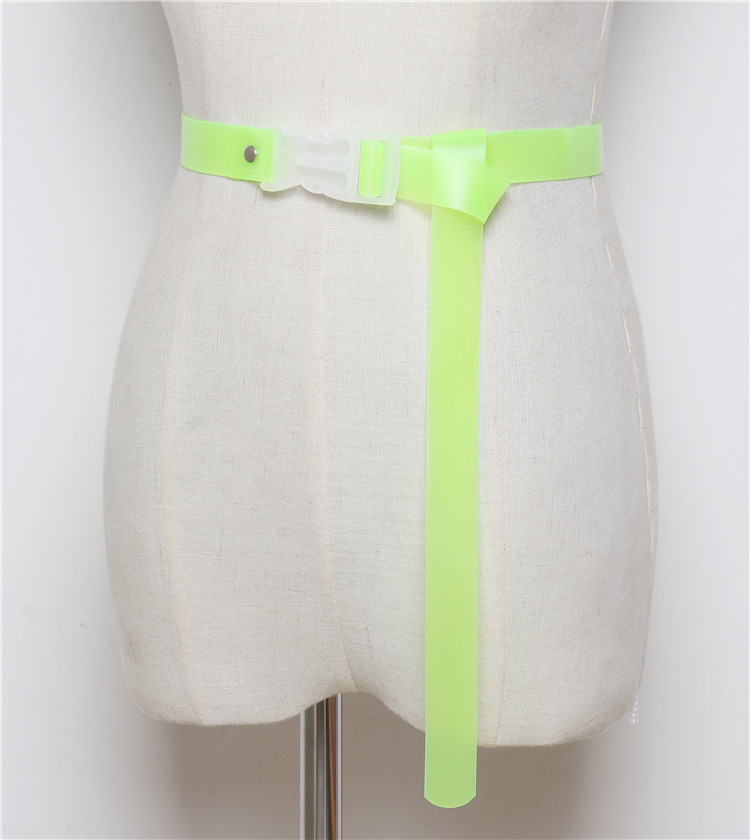 Belts Waist Neon Green Womens Fashion Brand BL05 PVC