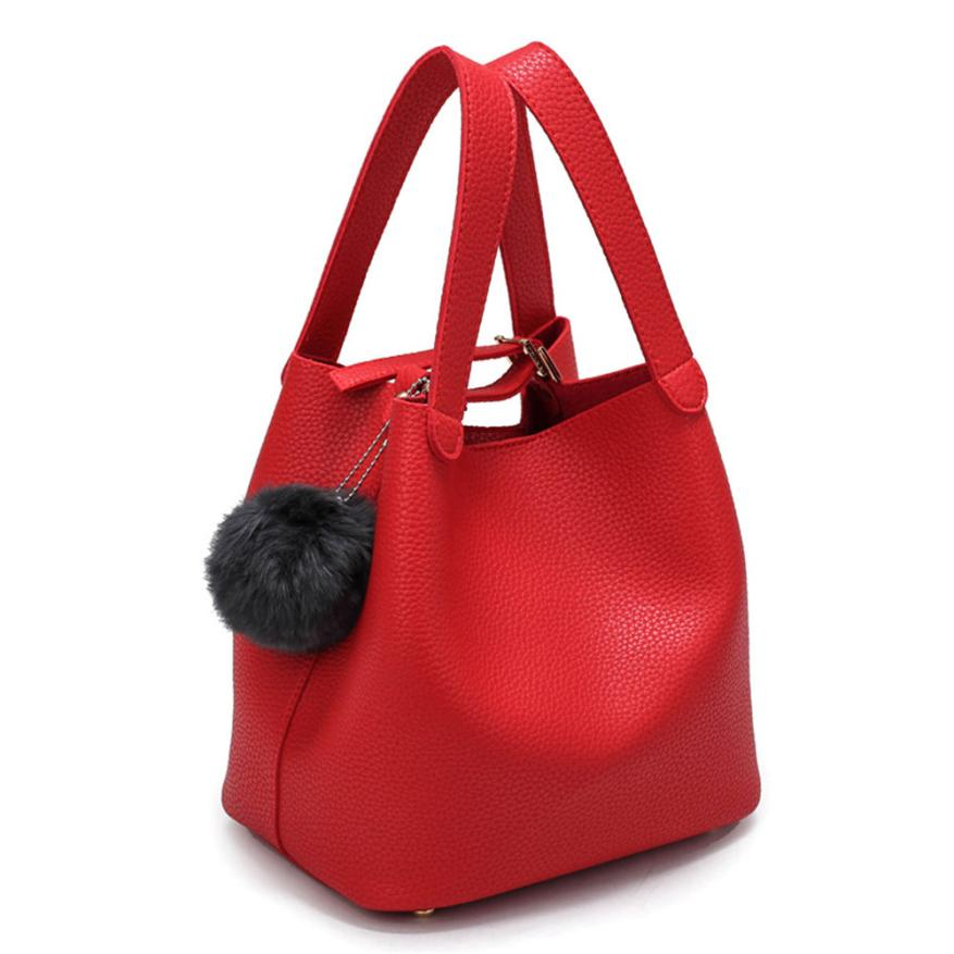 Fashion Women Handbag Top-handle Bag Hairball Pure Shoulder Bag Cansual Tote Purse Shopping Bag Pocket Dropshipping #F mini quilted luggage chain bag women s 2018 fashion designer quilting stitched plaided top handle shoulder bag purse handbag