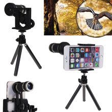 Universal 8X Optical Zoom Mobile Telescope Smartphone Telephoto Camera Metal Lens With Tripod For iPhone X Samsung Note 8 Sony