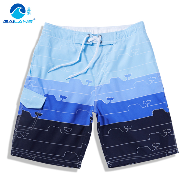 Cover wave AONISI summer leisure five big pants shorts loose striped bathing beach pants male quick drying