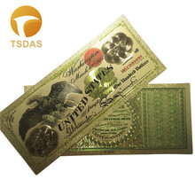 Top Quality Gold Banknote 1863 Year $100 Eagle US Dollar Note 24k Plated 10pcs/lot For Collection