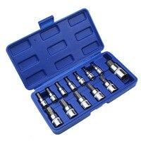 13pc Allen Key Ratchet Wrench 1 4 3 8 1 2 Drive Chrome Vanadium Mirror Polished