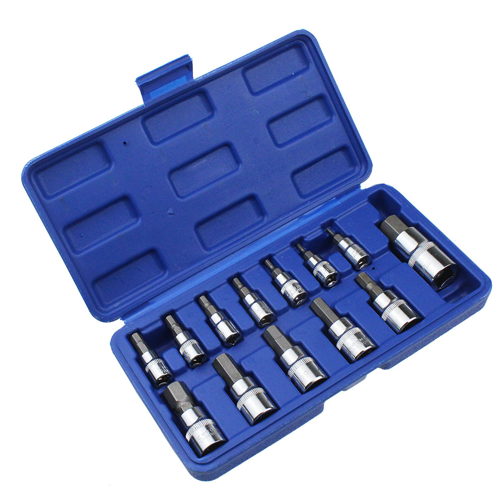 13pc Allen Key Ratchet Wrench 1/4 3/8 1/2 Drive Chrome Vanadium Mirror Polished Sockets High Quality crv Steel Bits13pc Allen Key Ratchet Wrench 1/4 3/8 1/2 Drive Chrome Vanadium Mirror Polished Sockets High Quality crv Steel Bits