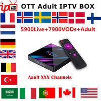 H96 MAX Smart IP TV Box Wireless Android 9.0 With 1Year France Portugal Belgium Netherlands Belgium Italy UK IPTV Subscription