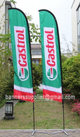 XXXL Feather Flags, Double Sided Printed your Design, with cross base+water bag