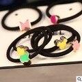 Envío gratis 8 unids/lote 2016 bandas de Goma de Estilo Coreano de La Manera Headwear Accesorios Para el Cabello Flor vendas Elásticos Del Pelo