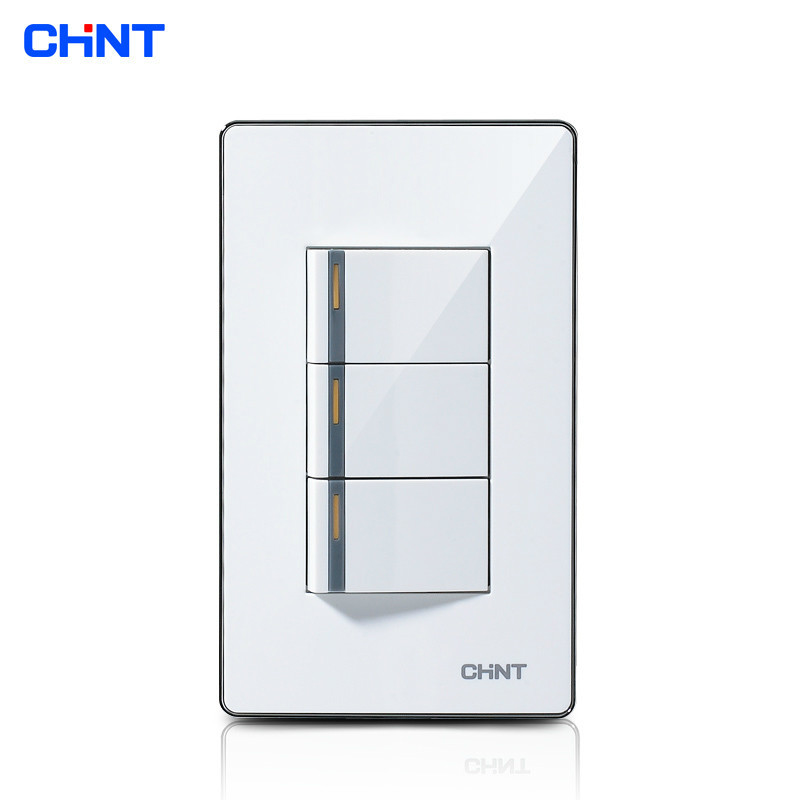 Chint Push Button Light Switch 120 Type New9 E012a Three