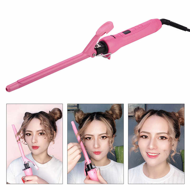 9/13 Mm Unisex Memutar Klip Rambut Atlet Curling Putra Dalam Profesional Gelombang Tongkat Rambut Curling Iron Salon LED Digital Ultrathin styling Tool40