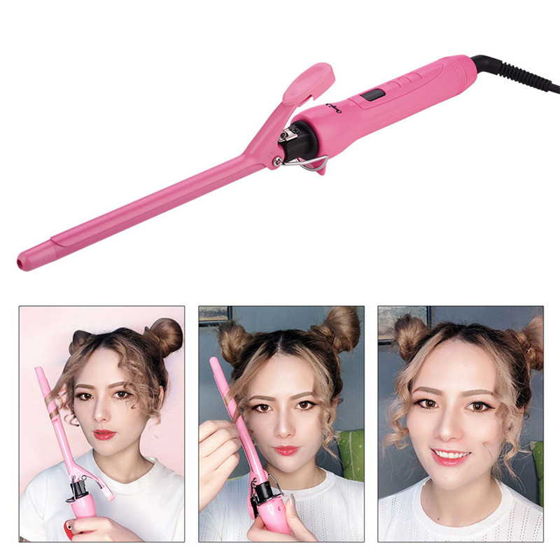 9/13mm Unisex Rotating Clip Hair Curler Professional Deep Wave Wand Hair Curling Iron Salon LED Digital Ultrathin Styling Tool40 image