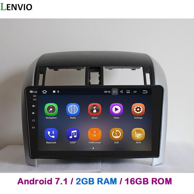 Lenvio 2GB RAM 2 Din Android 7.1 CAR GPS Navigation For Toyota Corolla 2007 2008 2009 2010 2011 2012 Radio stereo CAR DVD PLAYER