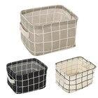 Foldable Storage Style Fashion Dirty hamper Desktop Storage Box Closet Toy Box Container Clothing Organizer Fabric Basket