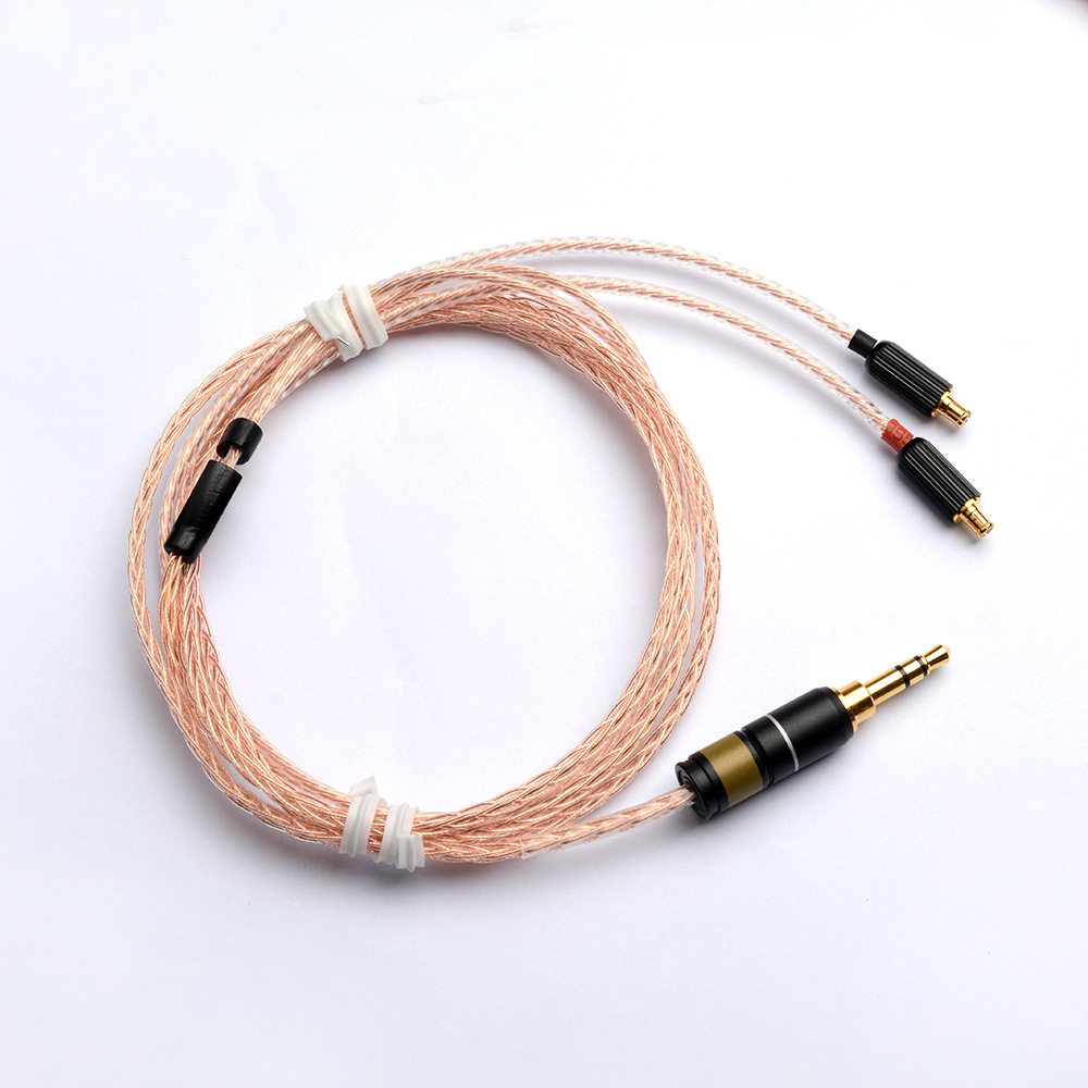 Hand Made DIY 8 Cores Single Crystal Copper Hifi A2DC Updated Cable for CKS1100 CKS1100IS CkR100 CKR90 E40 E50 E70
