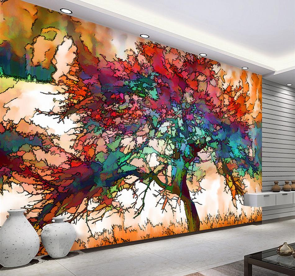 3d murals wallpaper for living room abstract tree image for Mural 3d wallpaper
