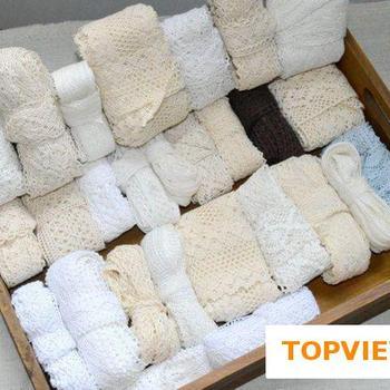 3 5-7CM 20 stoczni dużo akcesoria koronkowe bawełniane krawędzi teoria sweter boczna dokładka pełna bawełniana zasłona Sofa Diy bawełna koronki wykończenia tanie i dobre opinie Szydełkowane RANDOM Poliester Bawełna Elastyczna Przyjazne dla środowiska Rozpuszczalna w wodzie COTTON POLYESTER WHITE BEIGE
