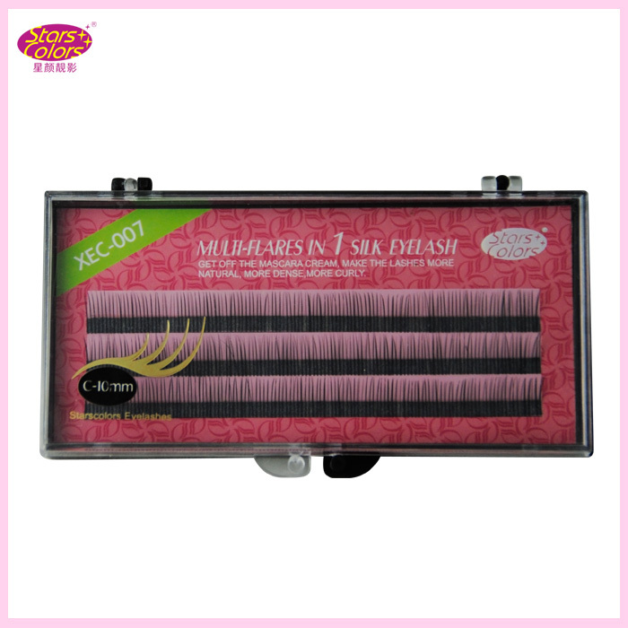 Hot Sale Silk Eyelashes C Curl 8/10/12mm Fake False Lashes High Quality Individual 0.10mm Thickness Makeup Eyelash Extention