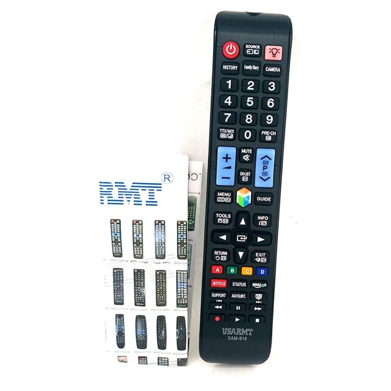 New remote control SAM-918 Universal For Samsung TV 3D LCD TV Controle remoto telecomando With NETFLIX AMAZON BN59-0.. AA59-0..