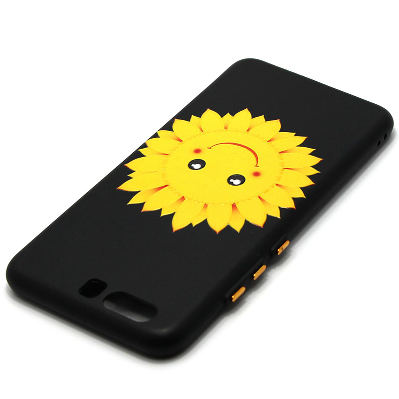 3D Relief flower silicone  case huawei p10 (26)