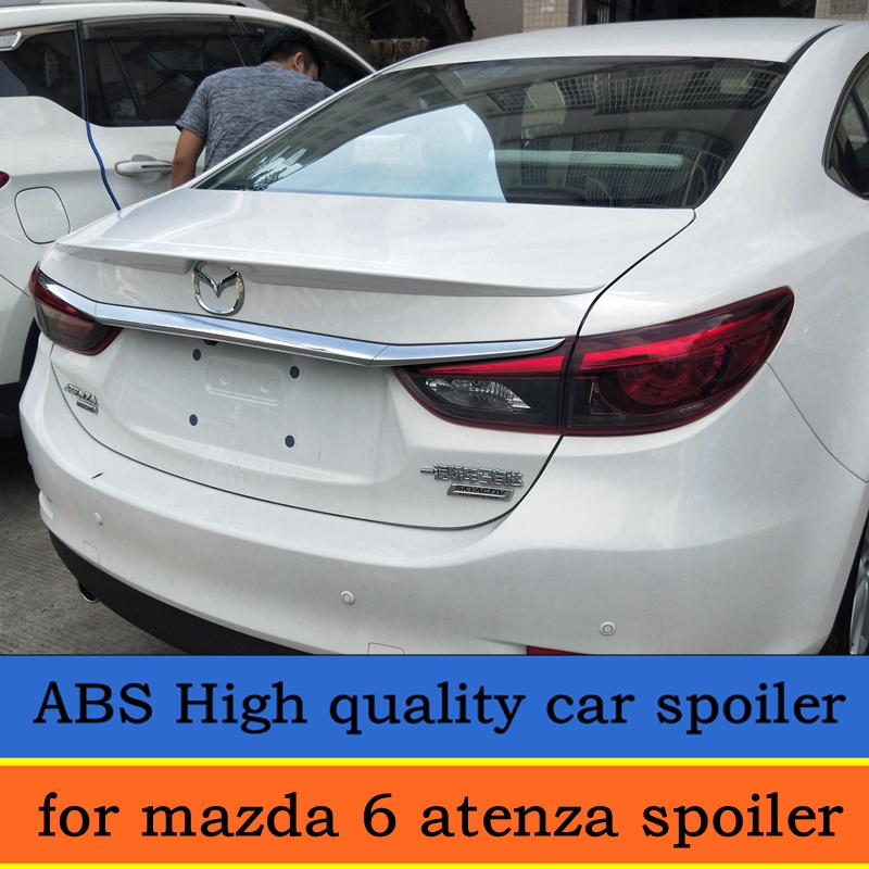 For <font><b>mazda</b></font> <font><b>6</b></font> Atenza <font><b>spoiler</b></font> <font><b>2014</b></font>-2017mazda <font><b>6</b></font> atenza lip <font><b>spoiler</b></font> High Quality ABS Material Car Rear Wing Color <font><b>spoiler</b></font> image