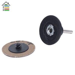 """Image 5 - 50 millimetri Levigatura A Disco Pad Holder Per Roloc Piastra 6mm (1/4 """") gambo Misura 2 """"Levigatrice Carta Lucidatura Sostituzione Rapida Utensili Abrasivi"""
