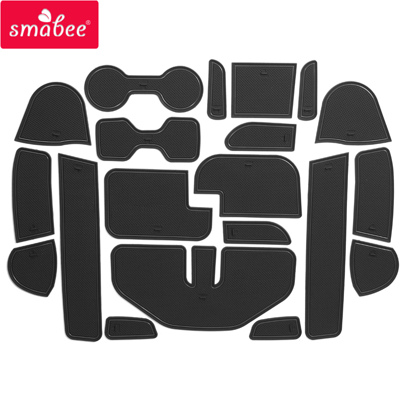 smabee Gate slot pad For Nissan Navara NP300 D23 2015-2016 Interior Door Pad/Cup Non-slip mats 20pcs red/blue/white