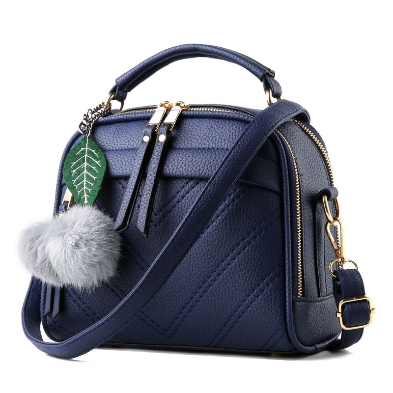New Thread Small Women Messenger Bag Casual Pu Leather Handbag Beading Tassel Lady Crossbody Shoulder Solid Flap 22 12 19 Cm In Top Handle Bags From