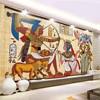 Classical Egyptian Non Woven Wallpaper European Style Retro Bar KTV Wallpapers For Living Room Restaurant Wallpaper