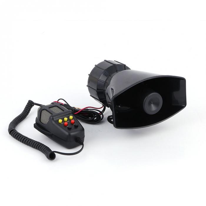 7 звуковых громких Предупреждение ющих охранных сигнализаций полицейская пожарная радиовещательная сирена Воздушный Рог PA динамик аксессуары для безопасности