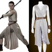 New star wars costume adult the force awakens Rey cosplay Carnival party costume Star wars Rey costume custom made,Free Shipping