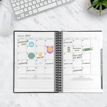 NEWYES 2,0 inteligente reutilizable borrable A5 agenda planificador semanal espiral calendario mensual diario de papel Kraft anual 2019